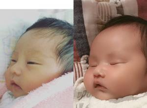 欧弟妻子晒两个女儿婴儿时期对比照,侧颜长得像极了